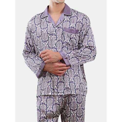 Soft Faux Silk Printing Pajamas
