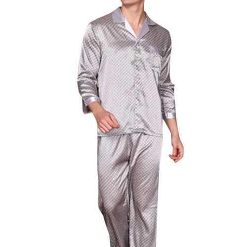 Mens Faux Silk Sleepwear