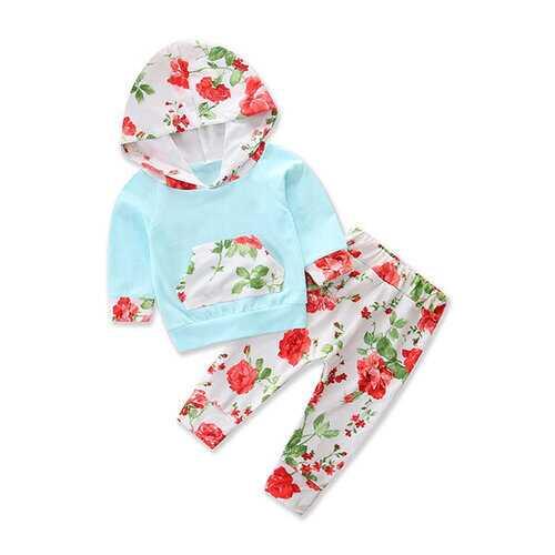 2pcs Floral Baby Girls Clothing Set