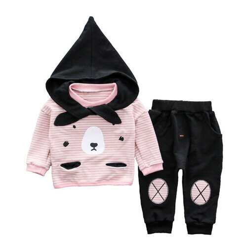 2pcs Cute Hooded Baby Clothes Set