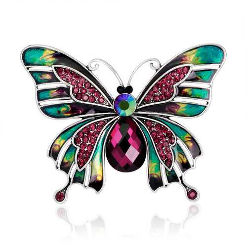 Classic Colorful Butterfly Brooch