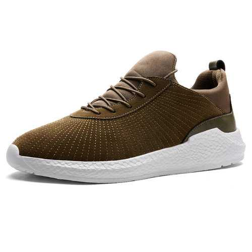 Men Non-slip Lace Up Sport Casual Sneakers