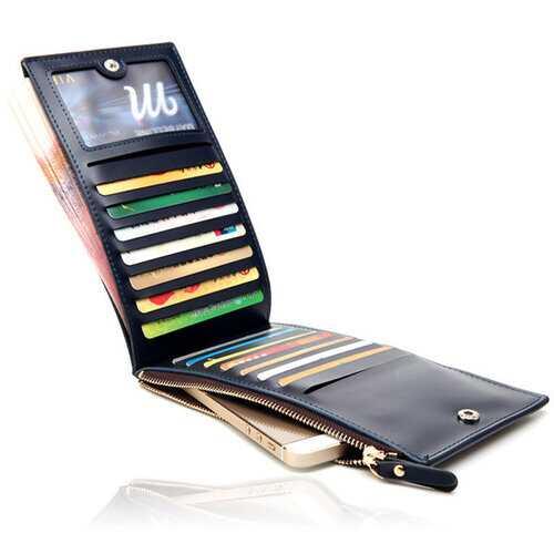 15 Card Slots Business 5.5 Inch Phone Bag Long Wallet