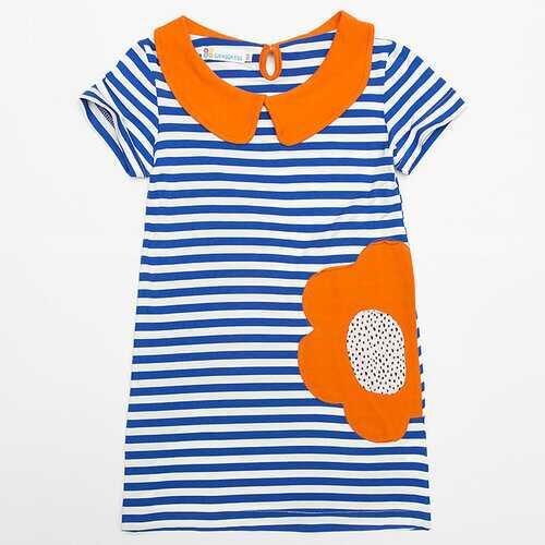Cute Striped Girls Casual Dresses