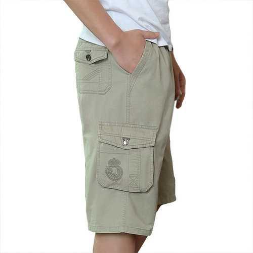 100%Cotton Multi-pocket Cargo Shorts