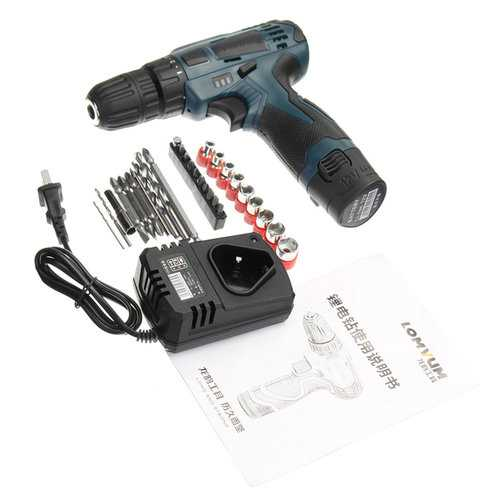12V Electric Drills 2 Speed Cordless Power Drills Driver
