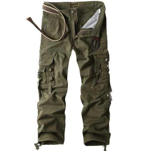 100% Cotton Multi-pocket Cargo Pants