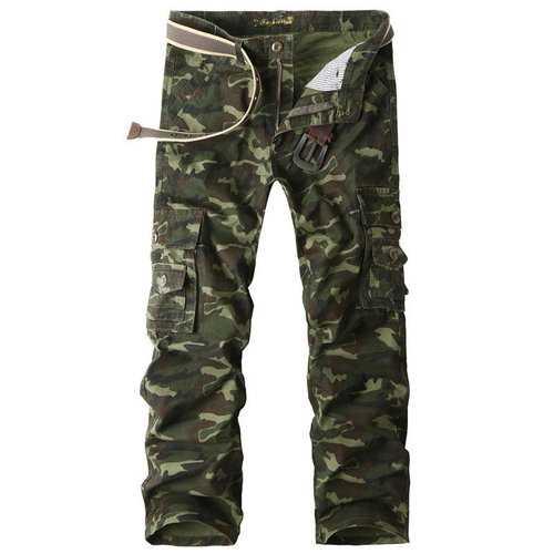 100% Cotton Camouflage Cargo Pants