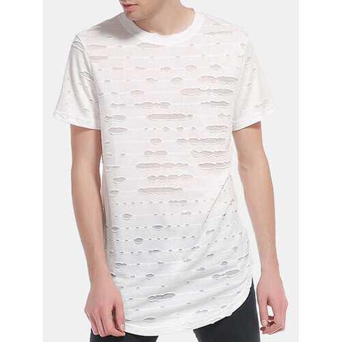 Hip-Hop Hole Casual T Shirts