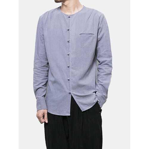 Chinese Button Linen Shirts