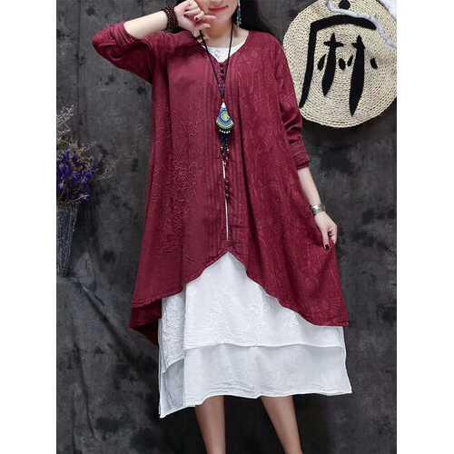 Irregular Jacquard Kimonos For Women