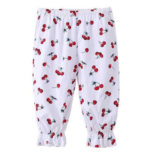 Cute Fruit Printing Baby Girl Pants