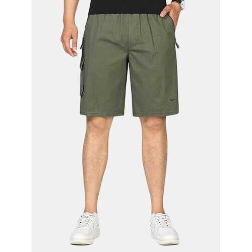 100%Cotton Thin Knee Length Loose Shorts
