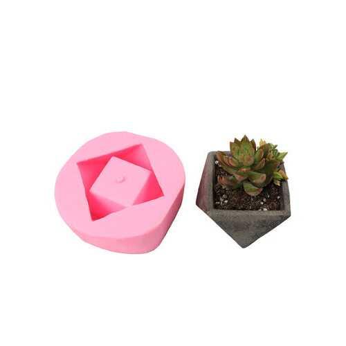 Handmade 3D Geometric Silicone Flower Pot Mold