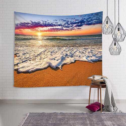 150*130cm/150*210cm Sunrise Beach Ocean Style Wall Hanging Tapestry Home Decor