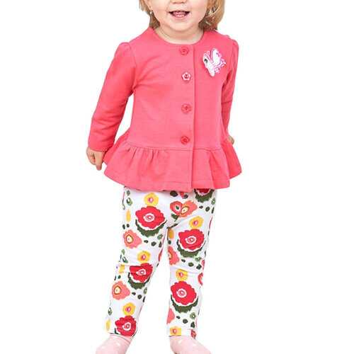2pcs Comfy Baby Girls Clothing Sets