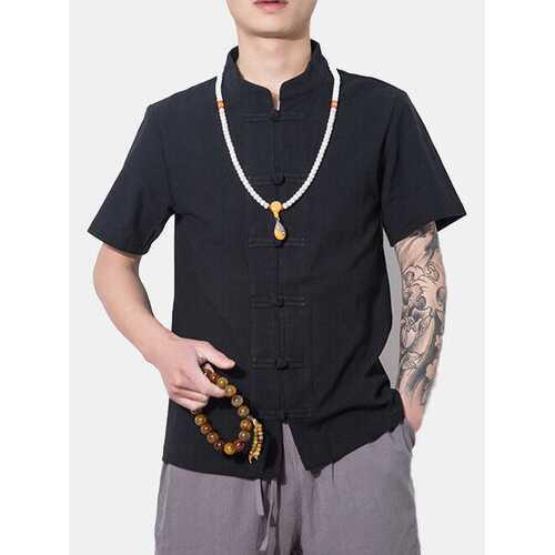Slim Fit Cotton Linen Shirt