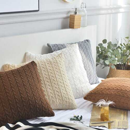 100% Cotton Knit Stretchable Cushion Covers