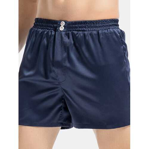 Solid Color Silk Liked Shorts