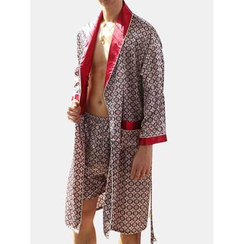 Luxury Satin Silk Liked Robes Pajamas