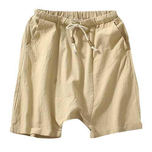 100%Cotton Breathable Harem Shorts