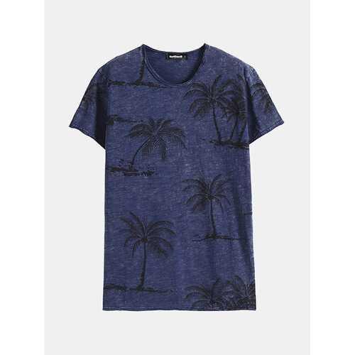 100%Cotton Palm Tree Printed T Shirts