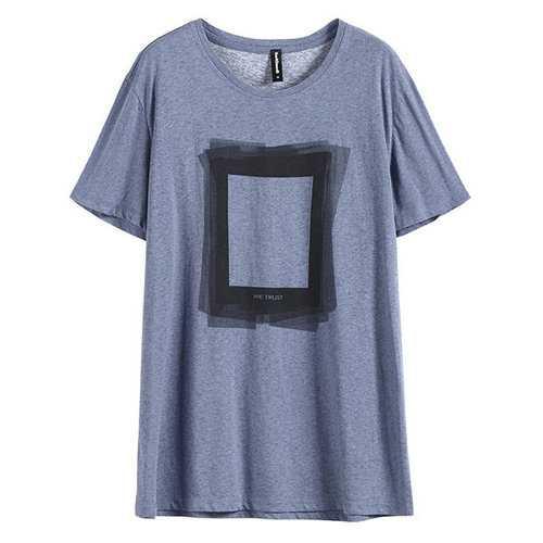 100% Cotton Geometric Printed T Shirts