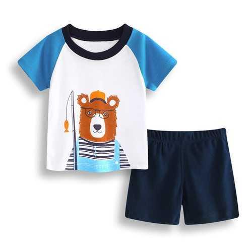 2pcs Bear Baby Short Set