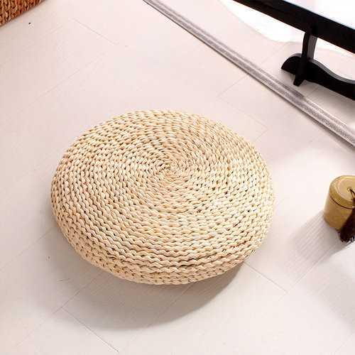40cm Straw Corn Bran Hand Knitting Cushion