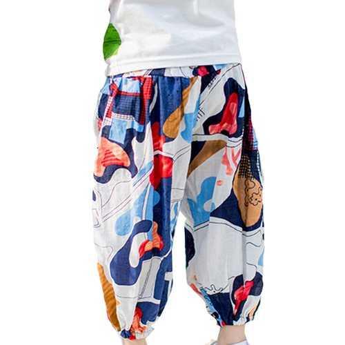 Bohemian Printed Girls Lantern Pants