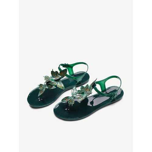 Butterfly Solid Buckle Waterproof Sandals