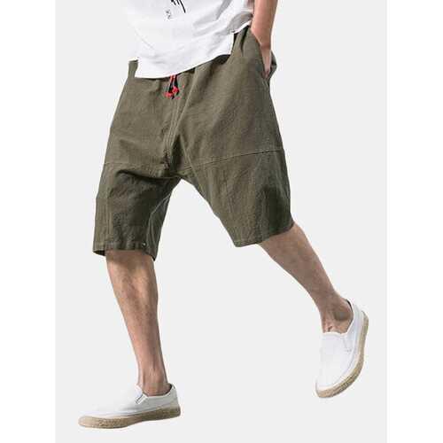 Baggy Loose Linen Knee Length Casual Shorts