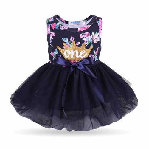 1st Birthday Baby Girls Princess Dress