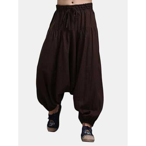 Linen Solid Color Harem Pants