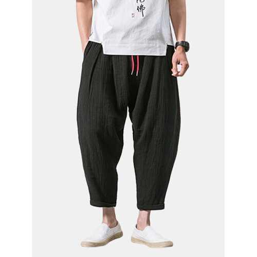 Linen Casual Baggy Loose Harem Pants