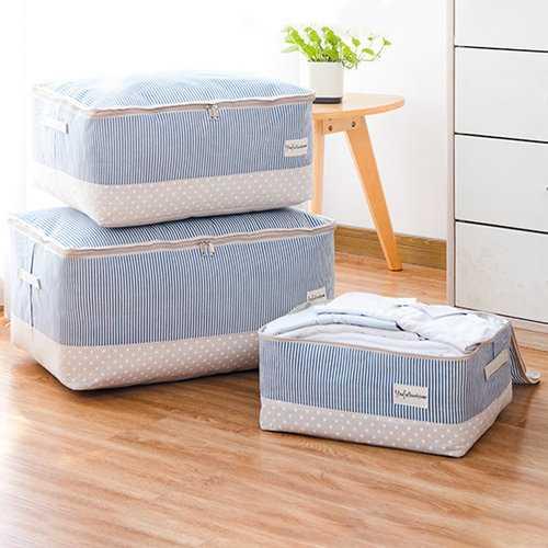 Thick Cotton Linen Clothing Quilt Storage Bag