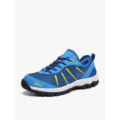 Large Size Men Mesh Hiking Shoes