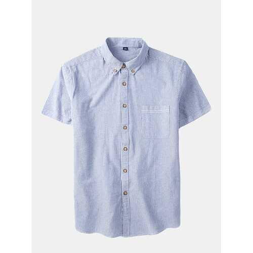 Cotton Stripes Printing Shirts