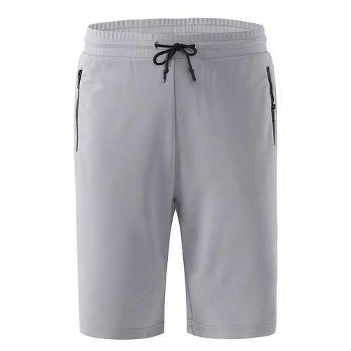 Bodybuilding Elastic Waist Knee Length Shorts