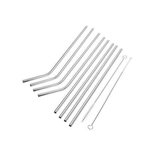 10Pcs Reusable Drinking Straws