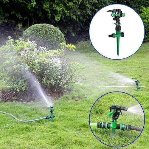 <US Instock>360° Adjustable Lawn Sprinkler Head Garden Grass Impulse Watering Sprayer