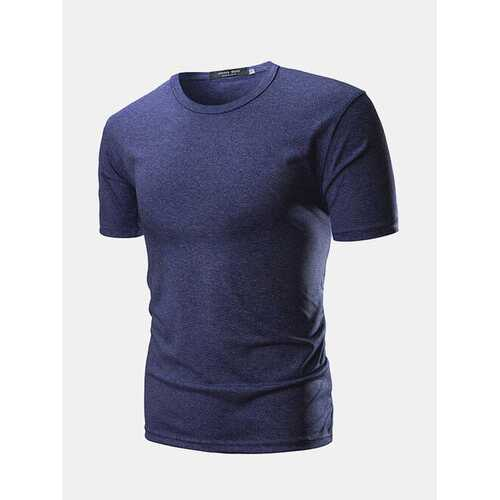 Basic Solid Color Casual T Shirts
