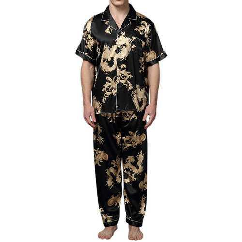 Thin Dragon Printing Soft Sleepwear