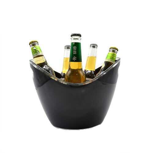 4L Plastic Transparent Garden Ice Bucket