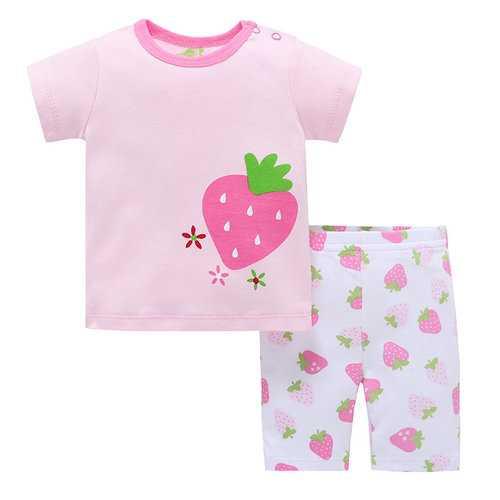 2Pcs Cute Soft Cotton Newborn Baby Sets