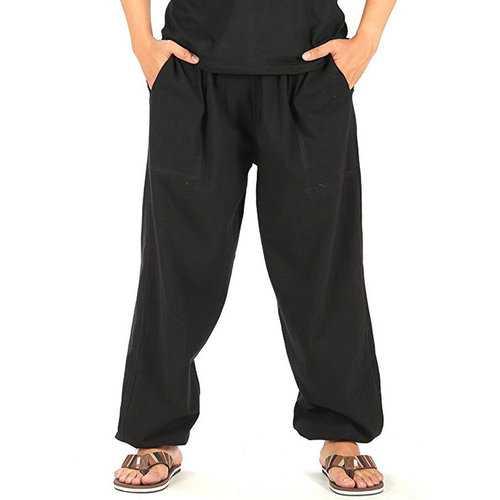 Brief Casual Cotton Wide Leg Pants