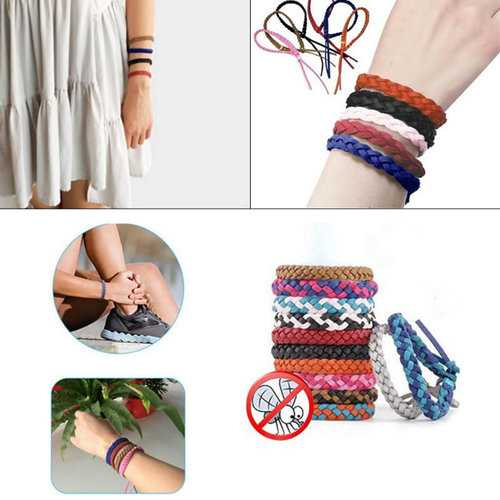 Leather Mosquito Repellent Bracelet