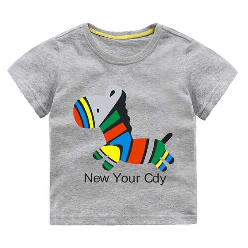 Cartoon Printed Boys Cotton T-shirts
