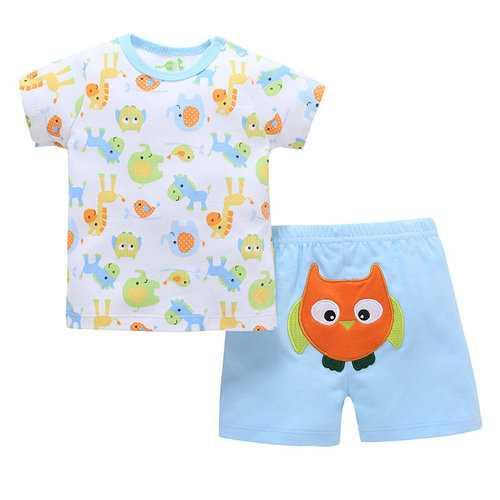 2Pcs Owl Soft Cotton Newborn Baby Sets
