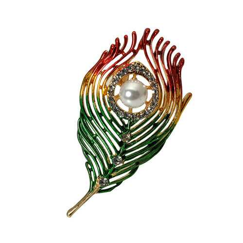 Designer Leaf Pearl Brooches